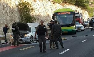 """זירת הפיגוע, בחודש שעבר (צילום: כבאות והצלה מחוז יו""""ש)"""