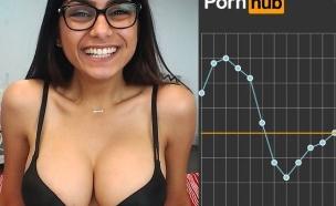 פורנו - סטטיסטיקה (צילום: pornhub)