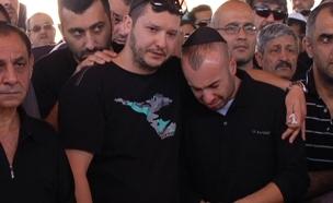 """הלוויתו של ראובן אבירם ז""""ל, היום (צילום: חדשות 2)"""