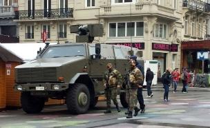 כוחות הביטחון בבלגיה בחודש שעבר (צילום: אביגיל גוטליב)
