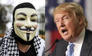אנונימוס נגד טראמפ (צילום: רויטרס)