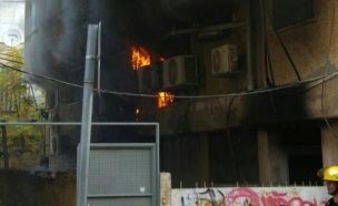 """12 נפגעו כתוצאה מהשריפה (צילום: דוברות מד""""א)"""