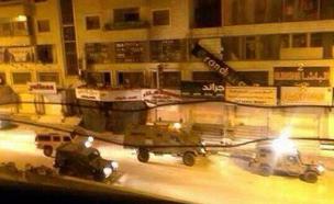 מבצע מעצרים בקלנדיה (צילום: חדשות 2)