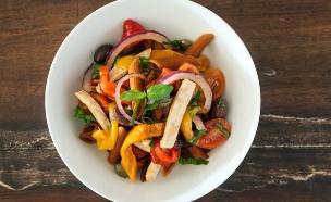 אתגר האוכל הבריא סלט פסטה (צילום: אסף רונן ,אוכל טוב)