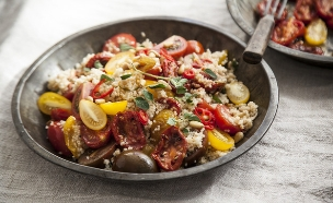 סלט קוסקוס ועגבניות צלויות (צילום: אפיק גבאי ,אוכל טוב)