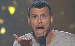 אסי צועק (תמונת AVI: מתוך הכוכב הבא לאירוויזיון 2016 ,הכוכב הבא לאירוויזיון 2016)