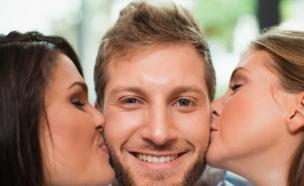 נשיקה משולשת (צילום: אימג'בנק/GettyImages ,getty images)