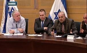 גלעד ארדן ואחמד טיבי בוועדת הפנים (צילום: חדשות 2)