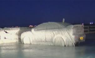 שעות אחרי שהוחנתה - המכונית קפאה