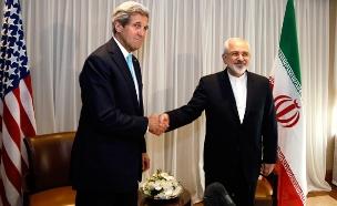 """זריף קרי הסכם ארה""""ב איראן (צילום: חדשות 2)"""
