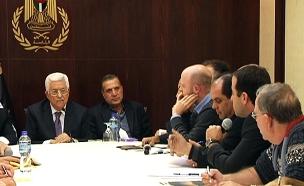 מתוך המפגש עם אבו מאזן, אתמול (צילום: חדשות 2)