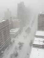 סופה בניו יורק (צילום: ליאת צרפתי)