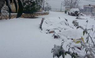בית גאן, חורף, שלג, קר (צילום: חדשות 2)