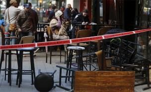זירת פיגוע הירי ברחוב דיזנגוף (צילום: רויטרס)