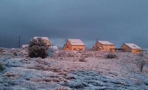 שלג, נוף, צפון, צימרים, חורף (צילום: חדשות 2)