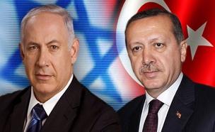 בנימין נתניהו וארדואן ראש ממשלת טורקיה (צילום: חדשות 2)