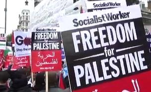 גל הפגנות נגד ישראל באירופה (צילום: חדשות 2)