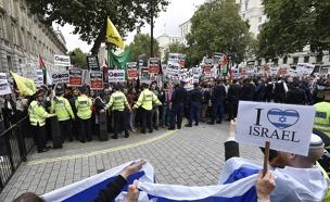 הפגנה פרו פלסטינית (צילום: רויטרס)
