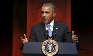 צפו בנשיא שחלץ נעליים (צילום: רויטרס)