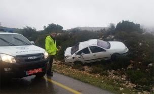 זירת התאונה, היום (צילום: ללא)