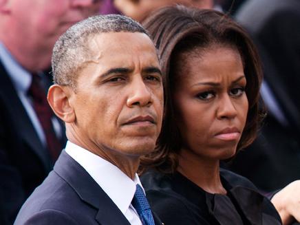 """""""לטפל במפגעים"""", בני הזוג אובמה (צילום: רויטרס)"""