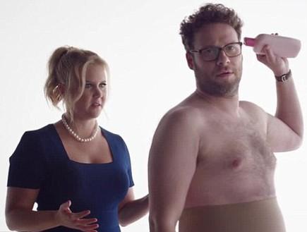 איימי שומר וסת' רוגן באד לייט פארטי פרסומת(צילום מסך)