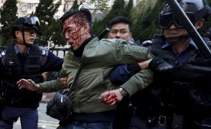 מחאה בלב הנוג קונג (צילום: רויטרס)