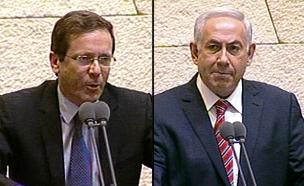 התנצחויות מעל דוכן הנואמים (צילום: ערוץ הכנסת)