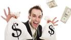 גבר עם שקי דולרים (צילום: istockphoto ,istockphoto)
