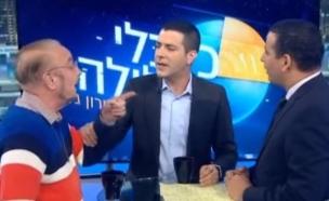 """יואל חסון ויורם שפטל ב""""כלכלי בלילה"""" עם שרון גל (צילום: יוטיוב  ,יוטיוב)"""