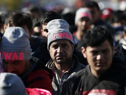 פליטים סורים (צילום: AP)