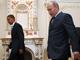 """""""האשמות חסרות בסיס"""". פוטין ואובמה (צילום: רויטרס)"""