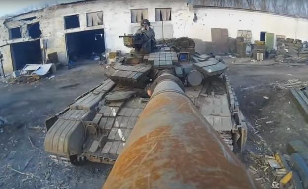 GO PRO על טנק (צילום: מתוך הסרטון)