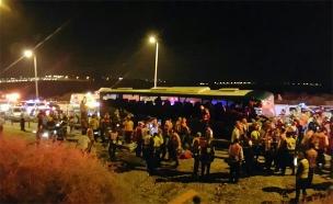 תאונה קטלנית בכביש 1 (צילום: אורי דיוויס, דוברות איחוד הצלה)
