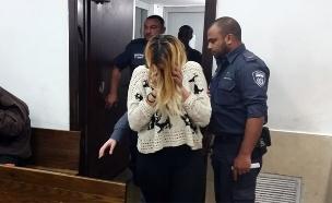 האחות החשודה שירי בבית המשפט, שלשום