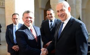 """בנימין נתניהו נפגש בירדן עם המלך עבדאללה (צילום: קובי גדעון, לע""""מ)"""