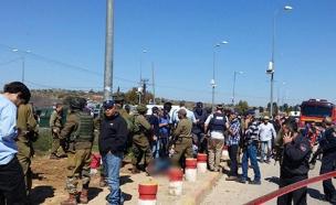 זירת הפיגוע היום (צילום: דוברות כב״ה והצלה יו״ש)