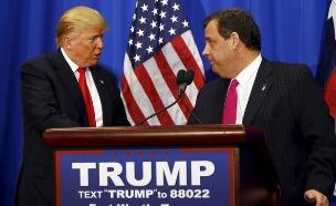 טראמפ וכריסטי. חיזוק משמעותי לקמפיין (צילום: רויטרס)