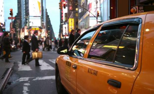 מונית צהובה ברחוב בניו יורק (צילום: istockphoto ,istockphoto)