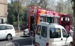 אשדוד: אישה נהרגה בשריפה בדירה (צילום: כבאות מחוז דרום)