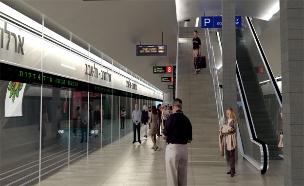 """הדמיית תחנת הרכבת הקלה בת""""א (צילום: יח""""צ)"""