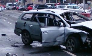 מכונית התפוצצה בברלין, הרקע נבדק (צילום: טוויטר)