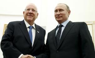 פוטין וריבלין נפגשו במוסקבה (צילום: רויטרס)
