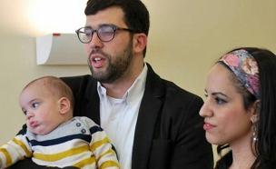 התינוק שטולטל שוחרר לביתו (צילום: דוברות מרכז שניידר)