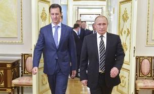 היציאה מסוריה: הידד לרוסים (צילום: רויטרס)