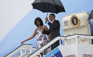 אובמה ומישל מגיעים לקובה (צילום: חדשות 2)