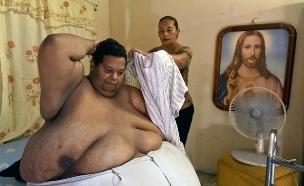 האיש השמן בקולומביה (צילום: אימג'בנק/AFP)