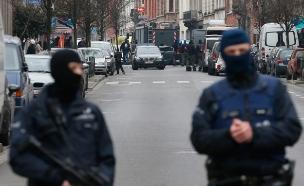 כוחות בבריסל לאחר הפיגועים, היום (צילום: רויטרס)