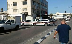 זירת הירי ביפו, הבוקר (צילום: חטיבת דוברות המשטרה)