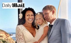 אמינה וליילה הארט וסקוט אנדרסן ביום החתונה (צילום: daily mail)